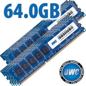 64.0GB (8x 8GB) DDR3 ECC PC10600 1333MHz SDRAM ECC for Mac Pro 'Nehalem' & 'Westmere' models