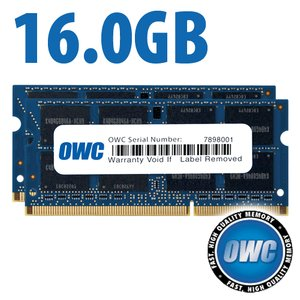 16.0GB (2x 8GB) PC3-10600 DDR3 1333MHz SO-DIMM 204 Pin CL9 SO-DIMM Memory Upgrade Kit