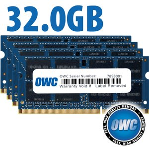 32.0GB (8GB x 4) PC3-10600 DDR3 1333MHz SO-DIMM 204 Pin CL9 SO-DIMM Memory Upgrade Kit