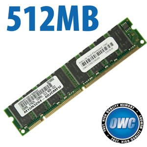 512MB PC133 CL3 3-2-2/PC100 CL2 2-2-2 168 Pin SDRam for Power Mac G4