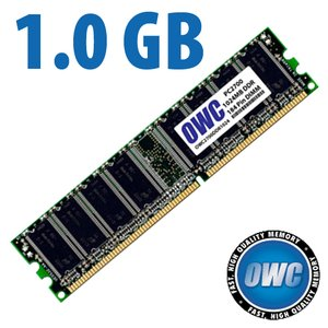 (*) 1.0GB PC2700 DDR 333MHz CAS 2.5 184 Pin DIMM.