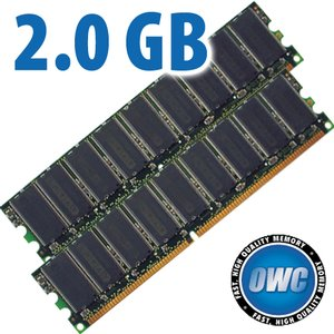 2.0GB PC3200 DDR400 Matched Pair Kit (2x 1GB) 184 Pin DIMM