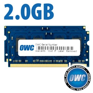 2.0GB Matched Pair (2x 1GB) PC5300 DDR2 667MHz 200 Pin SO-DIMM