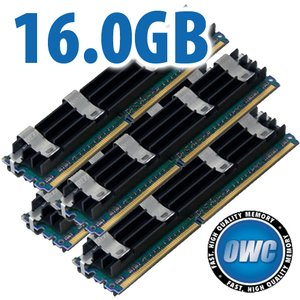 16.0GB Mac Pro Memory Matched Set (4x 4GB) PC5300 DDR2 ECC 667MHz 240 Pin FB-DIMM Modules