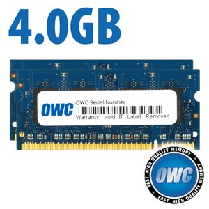 4.0GB Kit (2x 2GB) PC2-6400 DDR2 800MHz SO-DIMM 200 Pin Memory Upgrade Kit