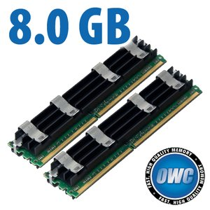 8.0GB Mac Pro Memory Matched Pair (2x 4GB) PC6400 DDR2 ECC 800MHz 240 Pin FB-DIMM Modules