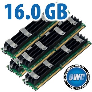 16.0GB Mac Pro Memory Matched Pair (4x 4GB) PC6400 DDR2 ECC 800MHz 240 Pin FB-DIMM Modules