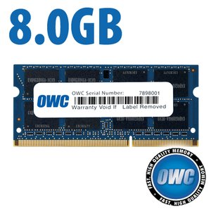 8.0GB PC3-8500 DDR3 1066MHz SO-DIMM 204 Pin SO-DIMM Memory Upgrade Module PC3-8500