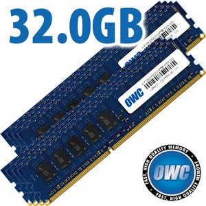 32.0GB (8x 4GB) DDR3 ECC PC8500 1066MHz SDRAM ECC for Mac Pro & Xserve 'Nehalem' models
