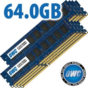 64.0GB Mac Pro Early 2009 Memory Matched Set (8x 8GB) PC-8500 1066MHz DDR3 ECC SDRAM Modules