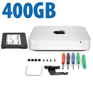 DIY Kit: Data Doubler + 400GB Crucial / Micron P400e SSD Bundle for Mac mini 2011 and 2012 models.