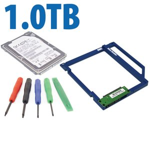DIY Kit: Data Doubler + 1.0TB 7200RPM 9.5mm Hard Drive Bundle + 5 Piece Toolkit.