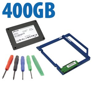 DIY Kit: Data Doubler + 400GB Crucial / Micron P400e SSD Drive Bundle + 5 Piece Toolkit.