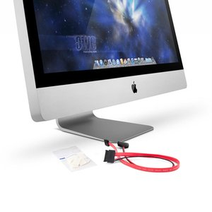"DIY Kit for all Apple 27"" iMac 2011 Models for installing an internal SSD. Without tools."