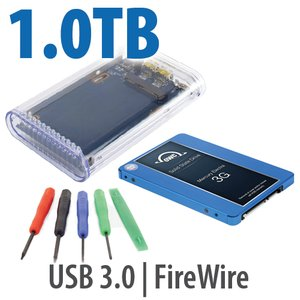 "DIY KIT: OWC On-the-Go FW800/USB 3.0 2.5"" Enclosure + 1.0TB Mercury Electra 3G SSD"