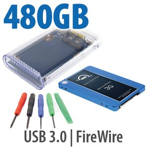 "DIY KIT: OWC On-the-Go FW800/USB 3.0 2.5"" Enclosure + 480GB Mercury Electra 3G SSD"