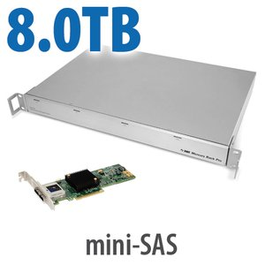 8.0TB OWC Mercury Rack Pro + 2-Port Jupiter Mini-SAS PCIe HBA