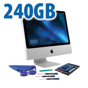 DIY Kit for 2006 - early 2009 iMac's factory HDD: 240GB OWC Mercury Extreme Pro 6G SSD.