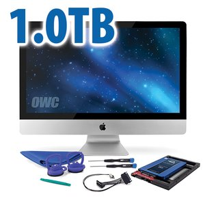 DIY Kit: 1.0TB OWC Mercury Electra 6G SSD + NewerTech AdaptaDrive + In-line Thermal Sensor.