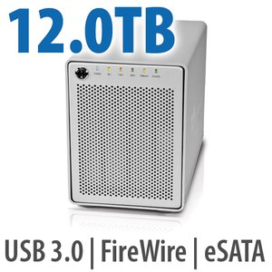 12.0TB OWC Mercury Elite Pro Qx2 4 Bay eSATA,FireWire 800+USB 3.0 Enterprise Class Desktop RAID