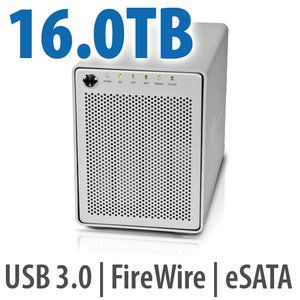 16.0TB OWC Mercury Elite Pro Qx2 4 Bay eSATA,FireWire 800+USB 3.0 Enterprise Class Desktop RAID