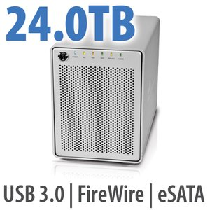 24.0TB OWC Mercury Elite Pro Qx2 4 Bay eSATA,FireWire 800+USB 3.0 Enterprise Class Desktop RAID