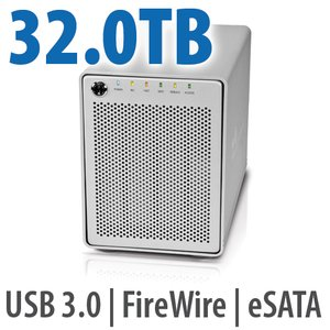 32.0TB OWC Mercury Elite Pro Qx2 4 Bay eSATA,FireWire 800+USB 3.0 Enterprise Class Desktop RAID