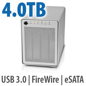 4.0TB OWC Mercury Elite Pro Qx2 4 Bay eSATA,FireWire 800+USB 3.0 Enterprise Hardware Desktop RAID