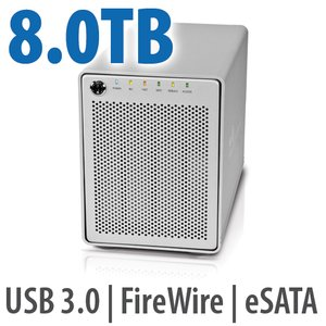 8.0TB OWC Mercury Elite Pro Qx2 4 Bay eSATA,FireWire 800+USB 3.0 Enterprise Hardware Desktop RAID