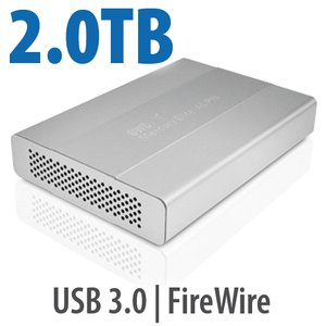 2.0TB OWC Mercury Elite Pro mini portable 5400RPM FW800/400 + USB3.0 storage solution