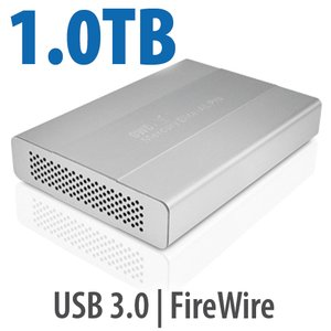 1.0TB OWC Mercury Elite Pro mini portable 7200RPM FW800/400 + USB3.0 storage solution