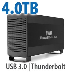 4.0TB Mercury Elite Pro Dual USB 3.0 & Thunderbolt RAID Storage Solution - SSD/HDD Hybrid