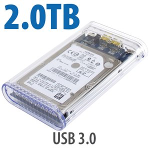 2.0TB OWC Mercury On-The-Go Pro USB 3.0 / 2.0 5400RPM Portable Bus Powered Solution.