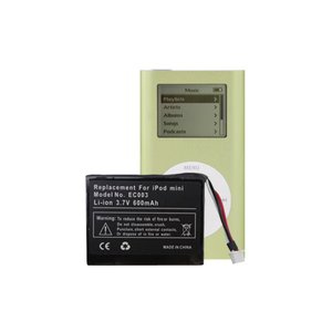 NewerTech NuPower 600mAh Replacement Battery for iPod mini with OWC Installation Service