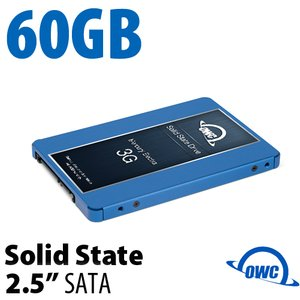 60GB Mercury Electra 3G 2.5-inch 7mm SATA 3.0Gb/s Solid-State Drive.