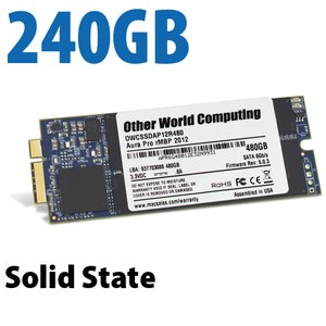 240GB OWC Aura 6G Solid-State Drive for 2012-13 MacBook Pro with Retina display.