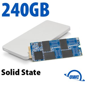 240GB OWC Aura Pro 6G SSD + Envoy Pro Upgrade Kit for 2012/13 MacBook Pro with Retina display.