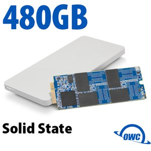 480GB OWC Aura Pro 6G SSD + Envoy Pro Upgrade Kit for 2012-13 MacBook Pro with Retina display.