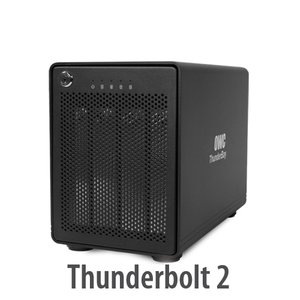 (*) OWC ThunderBay 4, four-bay drive enclosure with dual Thunderbolt 2 ports, RAID-ready w/cable
