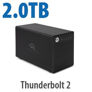 2.0TB OWC ThunderBay 4 mini, four-drive HDD with dual Thunderbolt 2 ports, RAID-ready JBOD Solution