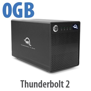 OWC ThunderBay 4 mini, four-bay drive enclosure with dual Thunderbolt 2 ports, RAID-ready Enclosure