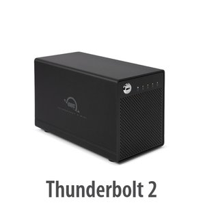 (*) OWC ThunderBay 4 mini, four-bay drive enclosure with dual Thunderbolt 2 ports, RAID-ready Enclos