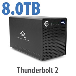 8.0TB OWC ThunderBay 4 mini, four-drive HDD with dual Thunderbolt 2 ports, RAID 5 Solution
