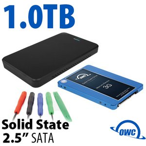 "DIY KIT: OWC Express USB 3.0/2.0 2.5"" Enclosure + 1.0TB Mercury Electra 3G SSD"