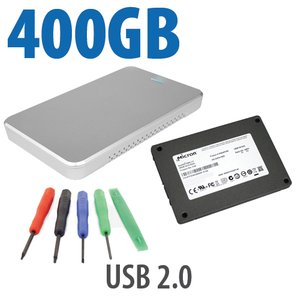 DIY KIT: OWC Express USB 2.0 + 400GB Crucial / Micron P400e Solid-State Drive,+ 5pc Toolkit