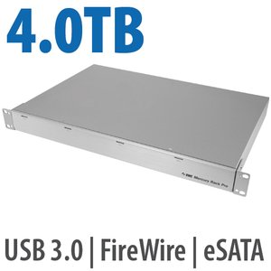 4.0TB OWC Mercury Rack Pro Enterprise Class 4 Bay eSATA, FW 800, FW 400 & USB 3.0 1U Rack Solution.
