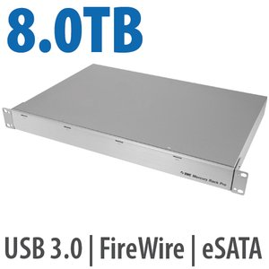 8.0TB OWC Mercury Rack Pro Enterprise Class 4 Bay eSATA, FW 800, FW 400 & USB 3.0 1U Rack Solution.