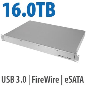 16.0TB OWC Mercury Rack Pro Enterprise Class 4 Bay eSATA, FW 800, FW 400 & USB 3.0 1U Rack Solution.