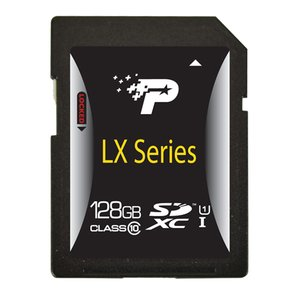 128GB Patriot LX Series Class 10 SDXC (Secure Digital eXtended Capacity) Flash Card