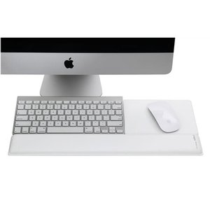 Rain Designs mRest white gel wrist rest / mouse pad - perfect for Apple keyboards! (Righthand Model)